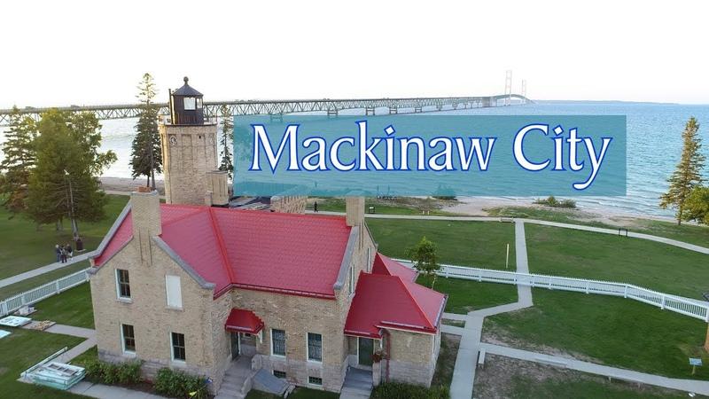 Aerial Tour of Mackinaw City, Michigan 2018