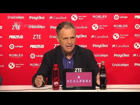 Caparrós: Juegue quien juegue en el Madrid, dependemos de nuestra actitud. 08/05/18. Sevilla FC