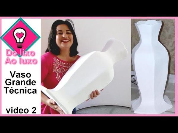 Vaso feito com caixa de leite - tamanho grande - parte 2