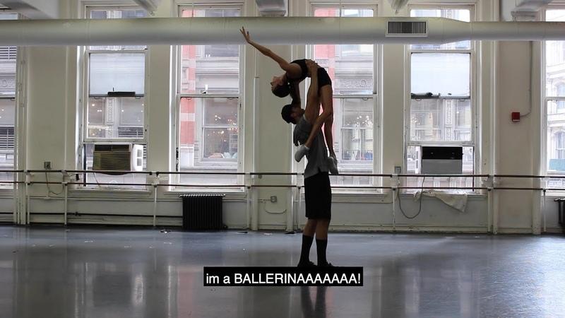 Pro Ballerina Katie Boren teaches me how to workout full workout in description