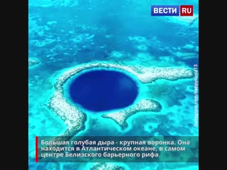 Невероятно красивая и необычная - Большая голубая дыра. Как вы думаете, на что она похожа?