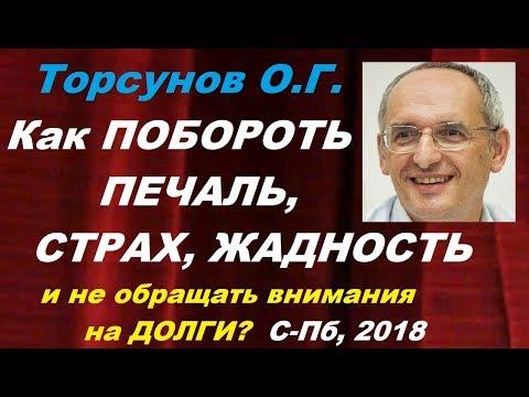 Торсунов О.Г. Как ПОБОРОТЬ ПЕЧАЛЬ, СТРАХ, ЖАДНОСТЬ и не обращать внимания на ДОЛГИ?