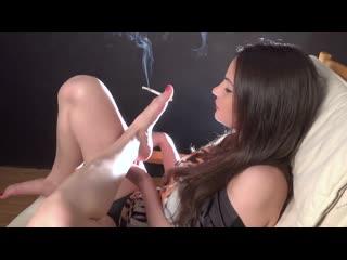 Abbie Cat smoking foot