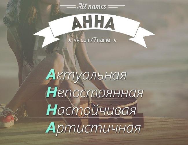 Имя анна картинки по буквам, для мужчины