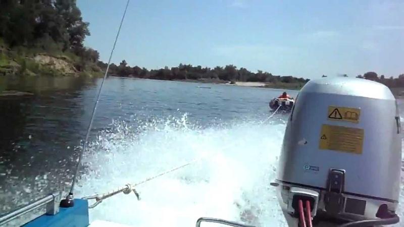 лодка Крым двигатель HONDA 50 на ватрушке