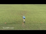 Basic Agility Football Soccer Drills - 3 Cone Sandwich