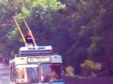 секс на крыше троллейбуса