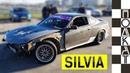 Как едет Nissan Silvia? Дрифт на парковке в Сочи от первого лица. POV test-drive.