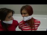 three girl gagged
