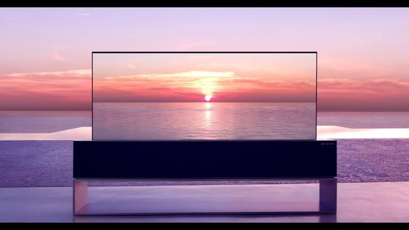 LG SIGNATURE OLED Rollable TV Lifestyle