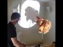 Magic Angle Sculpture made of Lego