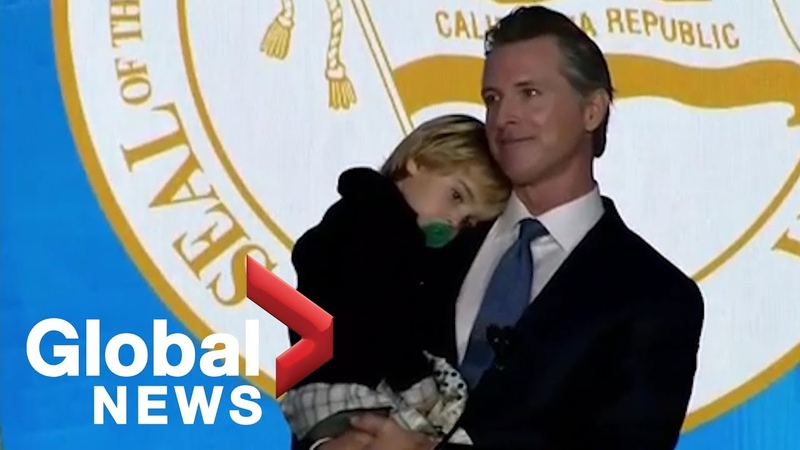 California Gov. Gavin Newsoms two-year-old son steals spotlight at inauguration