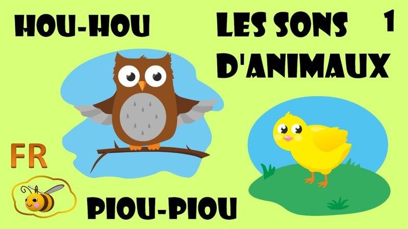 Les cris et bruits des animaux en français - dessin éducatif pour bébé Learn French for kids