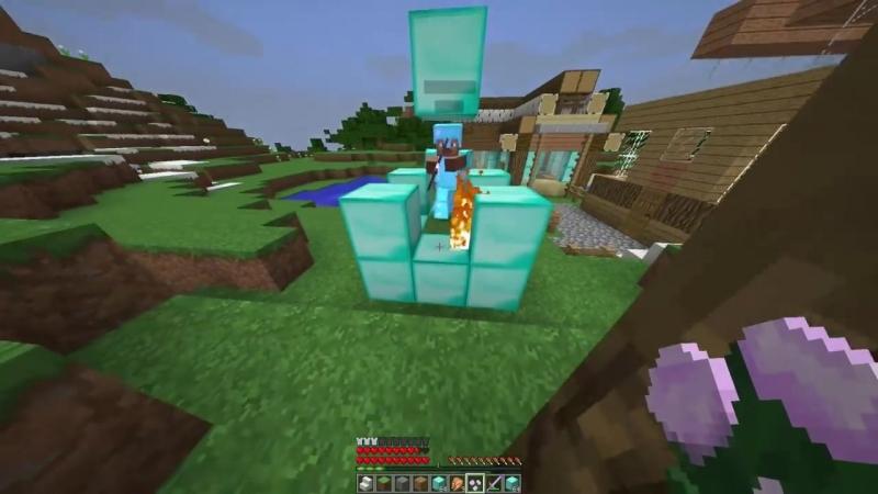Разрушение дома грифера или о семейных ценностях в Minecraft (Анти-грифер шоу)