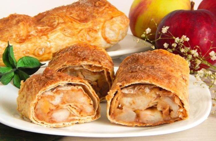 Штрудель из лаваша с яблоками: самый простой и быстрый рецепт