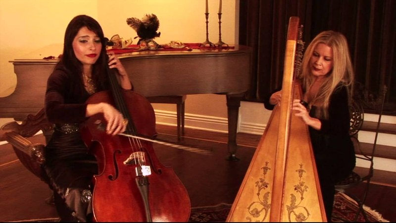 ANGELS OF VENICE, Pachelbels Canon, Carol Tatum Harp with cello