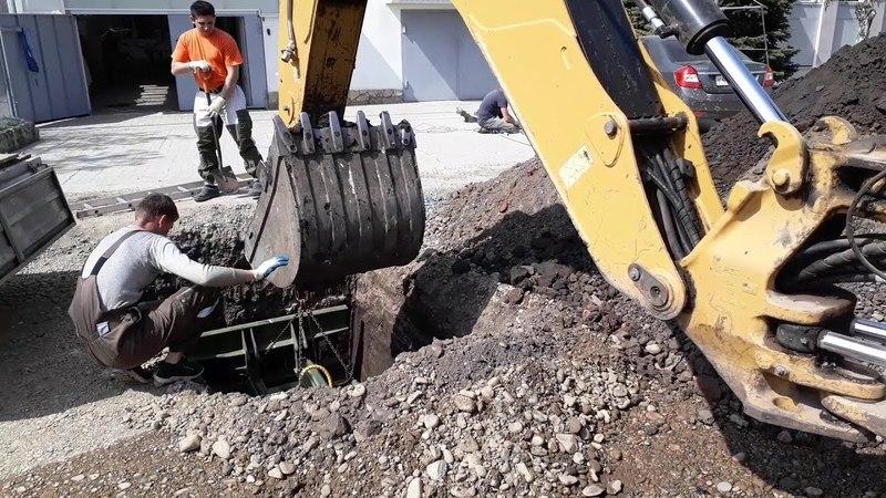 Прокол под дорогой в колодец под водопровод ГНБ
