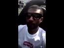 Usher listening to Nicki Minaj's verse in MotorSport.