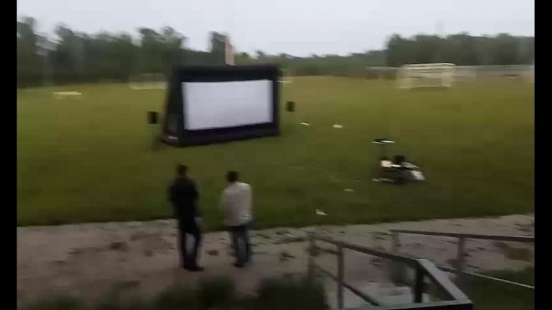 открытый кинопоказ на майдане в п.Джалиль