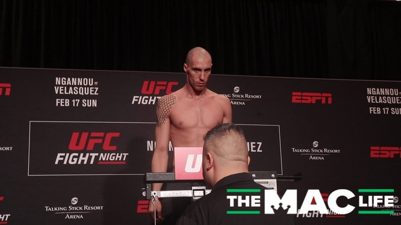 James Vick and Paul Felder weigh-in | UFC on ESPN 1 Official Weigh-Ins