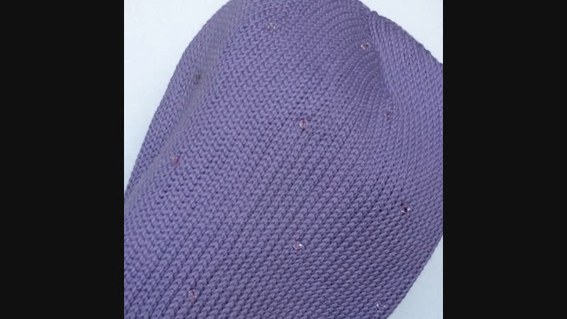 Шапочка фиолетовая 💟