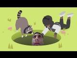 Игра просунь всё в дырку необычная Donut County обзор геймплея игры review gameplay