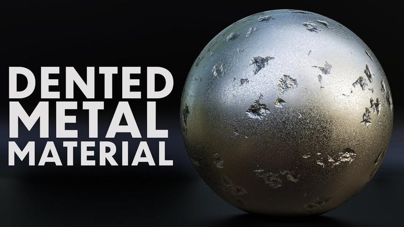 Blender - Procedural Dented Metal shader (Blender 2.8)