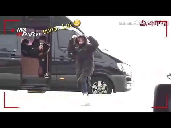 EXO at Incheon Airport heading to Taiwan(cute Suho) 181119
