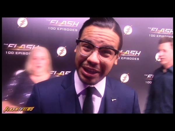 Carlos Valdes | Flash Episode 100 Carpet | Cisco Ramon/Vibe