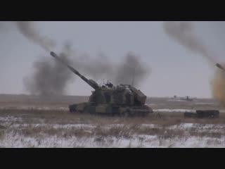 Артиллеристы ЮВО под Волгоградом провели первую в этом году тренировку по применению разведывательно-огневого контура