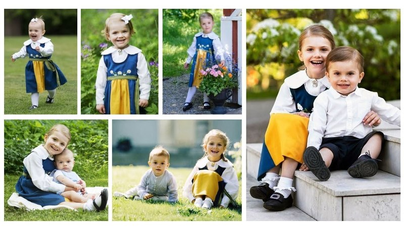 The Cutest Photos of Estelle and Oscar for Sweden National Day throught the years