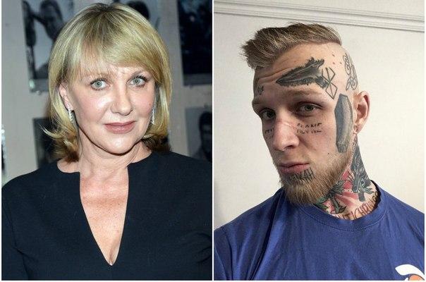 Покрытый татуировками сын Елены Яковлевой работает воспитателем