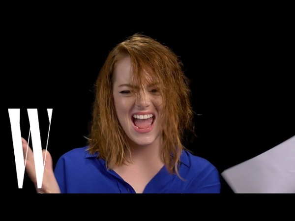 Emma Stone Performs I Will Survive (For W Magazine)