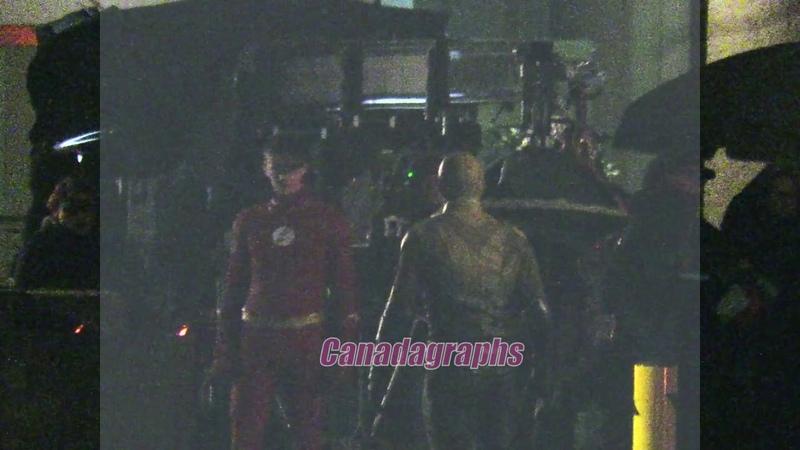 THE FLASH Season 5 Episode 22 filming - XS Flash vs Reverse Flash scene