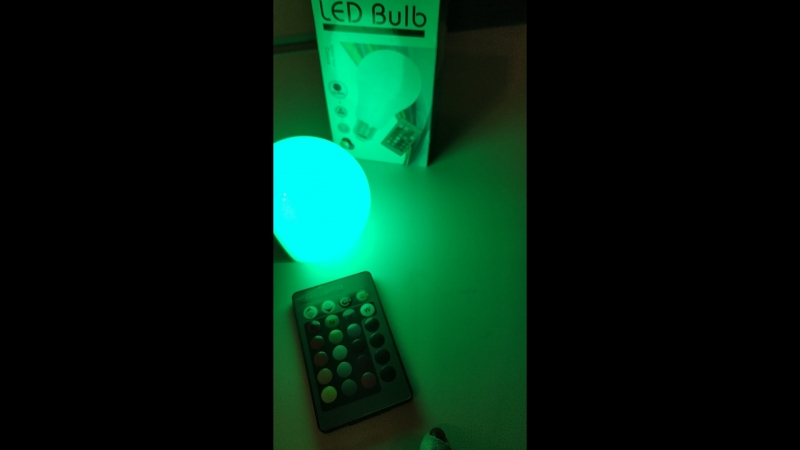 RGB лампа с пультом