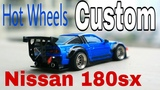 Hot Wheels custom Nissan 180SX drift, pandem, rocket bunny, liberty walk, body kit