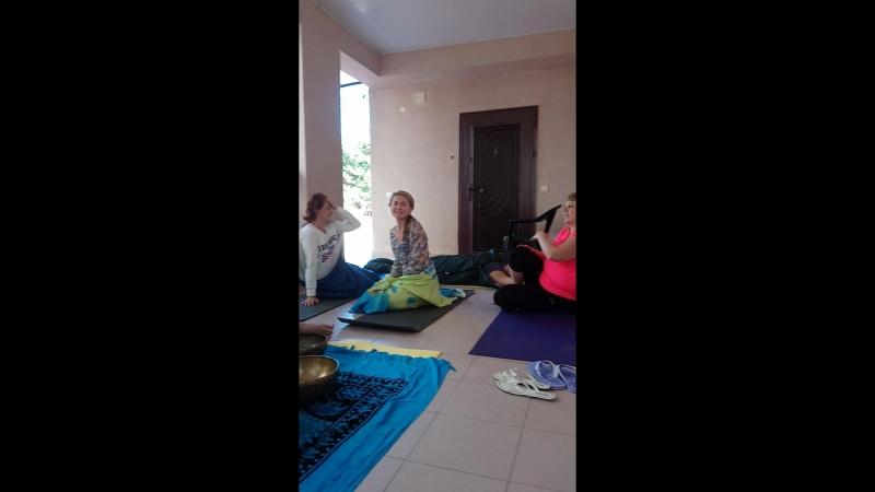 После медитации с чашами