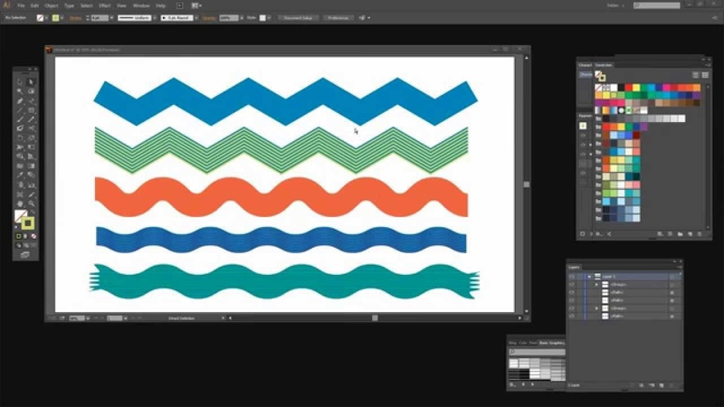 Use Adobe Illustrator to Make Zig Zags, RickRack and Wavy Lines