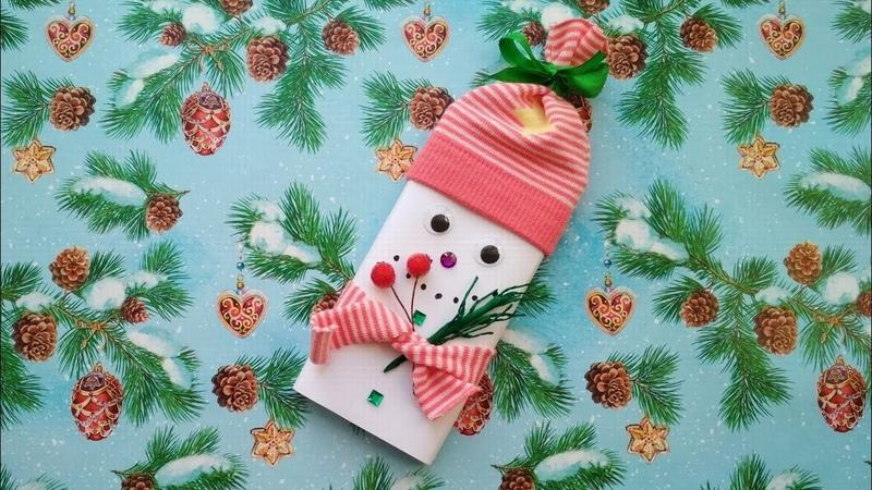 Как сделать снеговика из шоколадки? Сладкие подарки на Новый 2019 год.