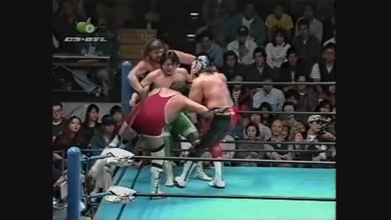 1997.09.27 - Mitsuharu Misawa/Jun Akiyama/Maunakea Mossman vs. Steve Williams/Gary Albright/The Lacrosse
