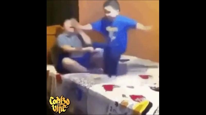 Сын разбудил отца а потом получил в ответ