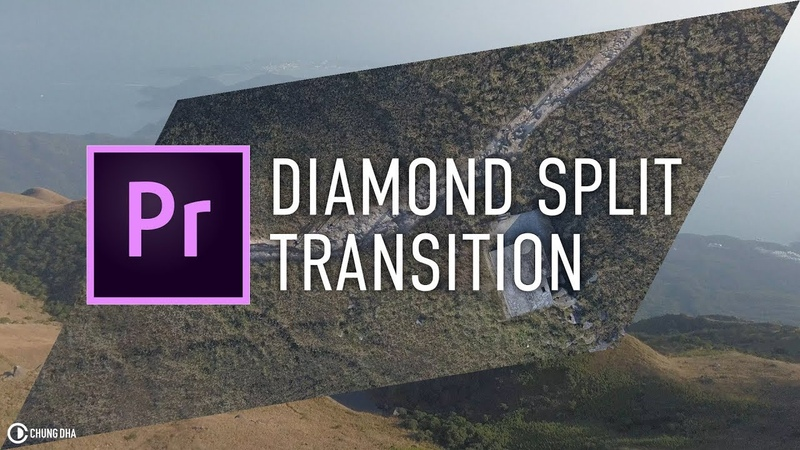 Diamond Split Transition Tutorial in Adobe Premiere Pro CC2018 timelinetuesday by Chung Dha