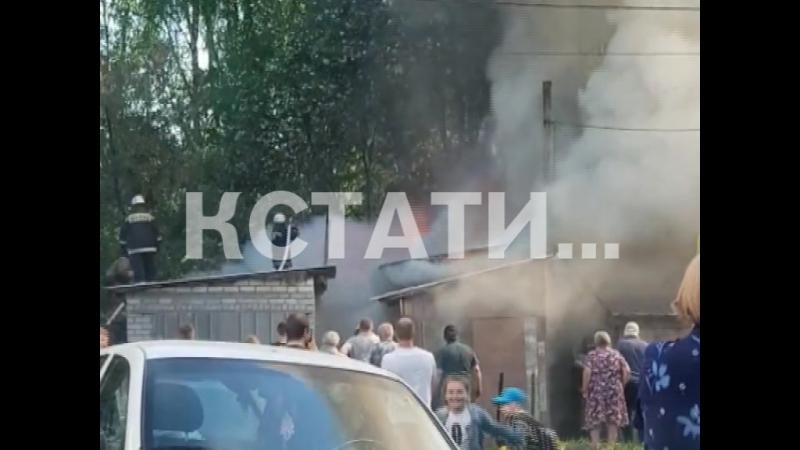 Пожар в Городце на ул. Фурманова