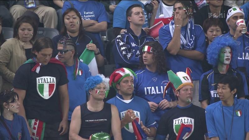 (1080p 60fps) 2002 한일 월드컵 G조 1차전 2경기 이탈리아 VS 에콰도르 전반전 (일본어해설) 2