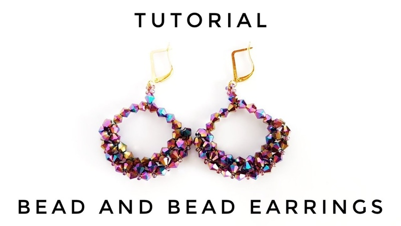 МК Серьги из биконусов Tutorial Earrings made of faceted bicone