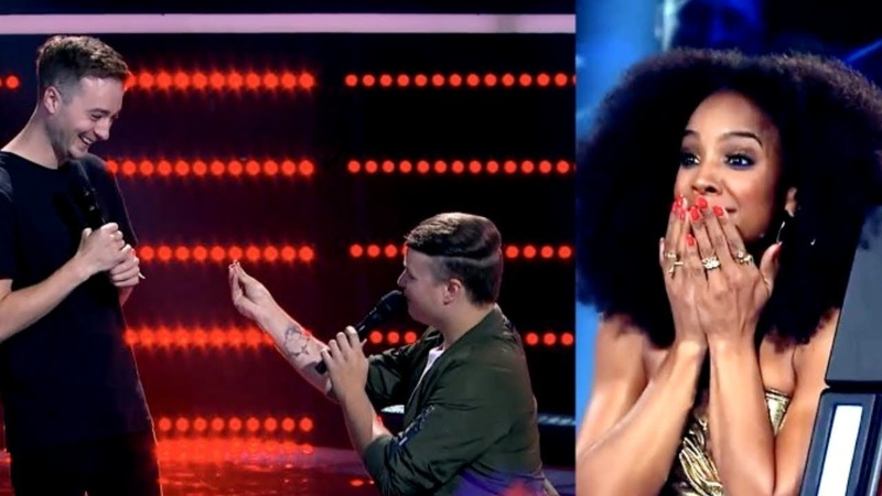 Marriage Proposal On The Voice Australia 2018 - : Nathan Brake 'Jealous' - Blind Audition.