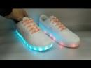 Кроссовки Nike Air текстильные со светящейся подошвой