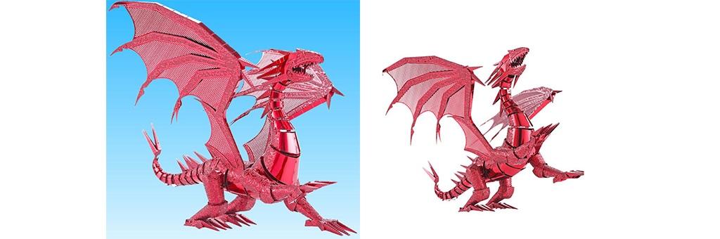 Конструктор Piececool Красный дракон 70111