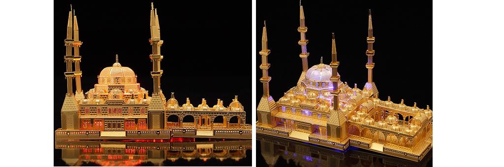 Конструктор Piececool Мечеть Сердце Чечни 70092