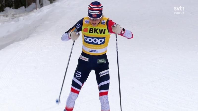🇳🇴 Тереза Йохауг - победа в гонке на 10 километров свободным стилем - Давос 2018